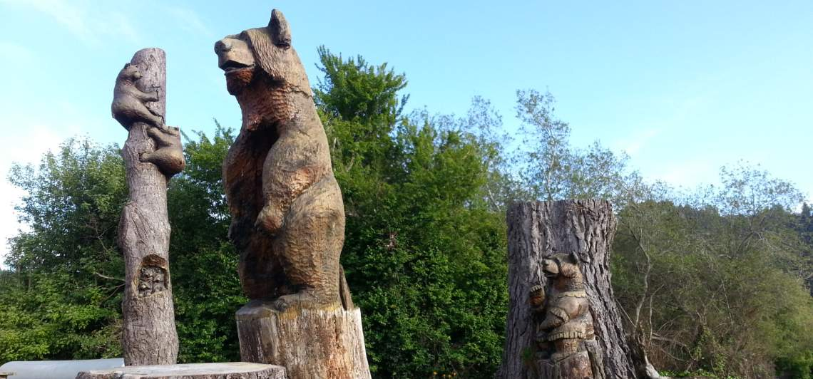 Entrance Way to Duncans Mills Camping Club - Lots More Bears Around Here...All Wooden!