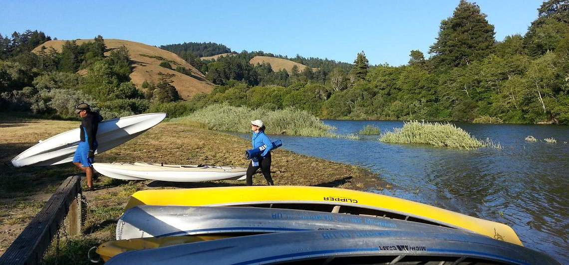 Heather and Horge Taking Advantage of a Fine Day on the Russian River